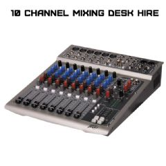 10 Channel Mixing Desk with Effects (Hire Cost per Day)